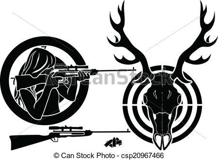 450x330 Hunting Clipart Deer Logo