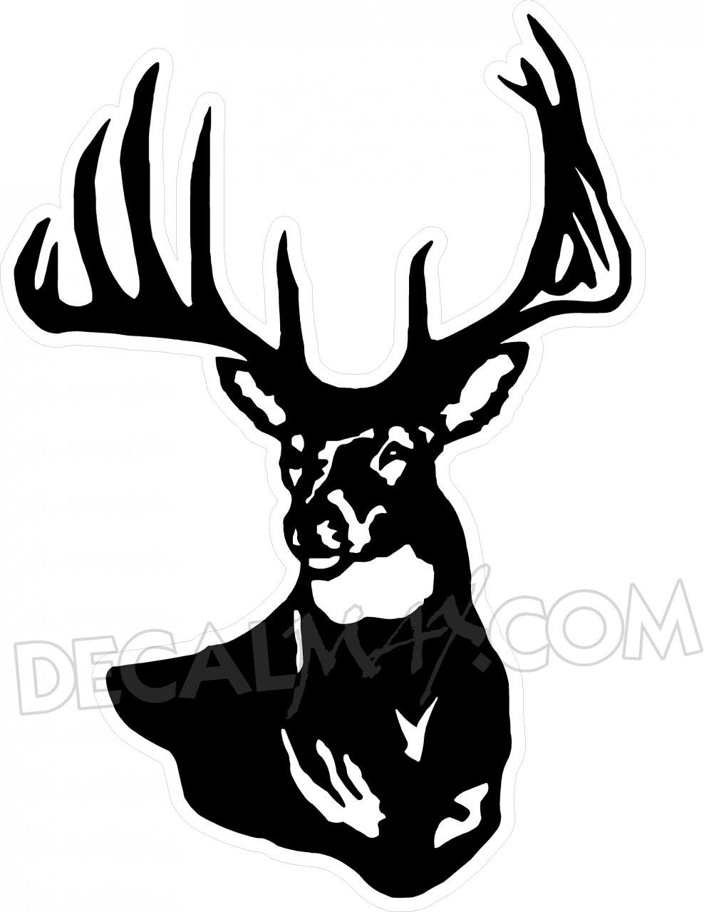 988x1280 Buck Clipart Deer Hunting