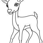 150x150 Deer Black And White Clipart Animals Clipart Deer Black White
