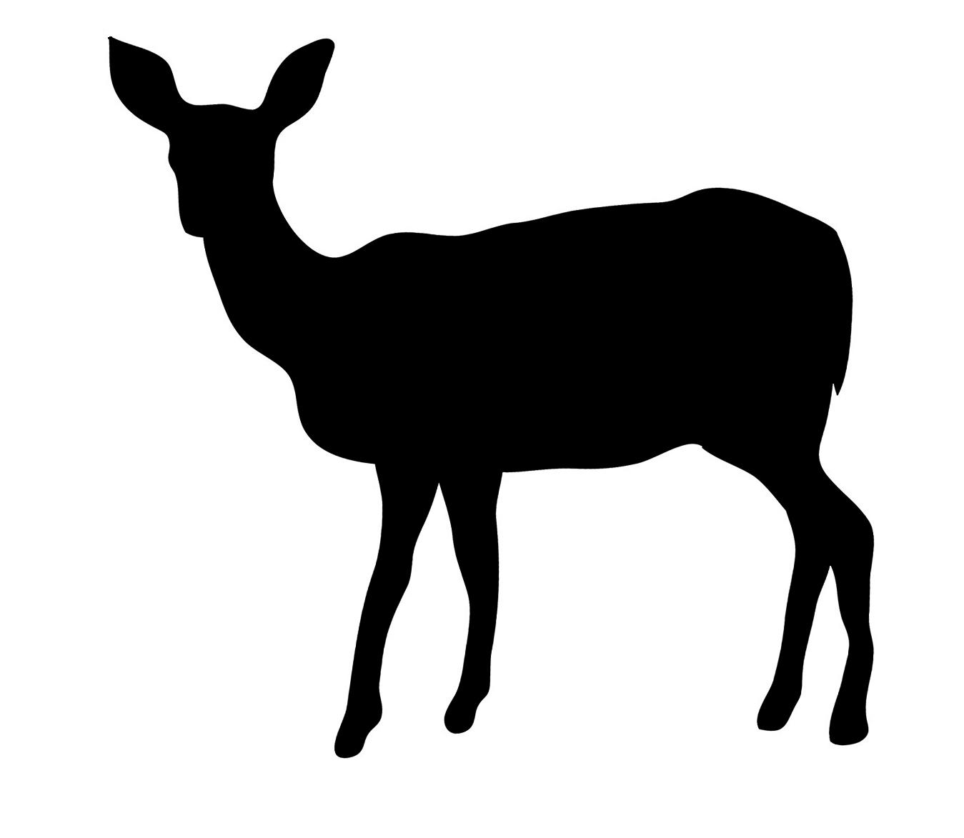 1349x1173 Deer Silhouette Clip Art