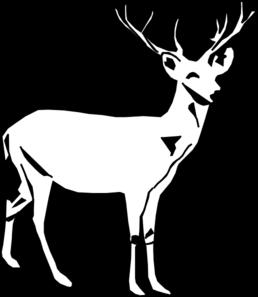 258x297 Deer White Clip Art