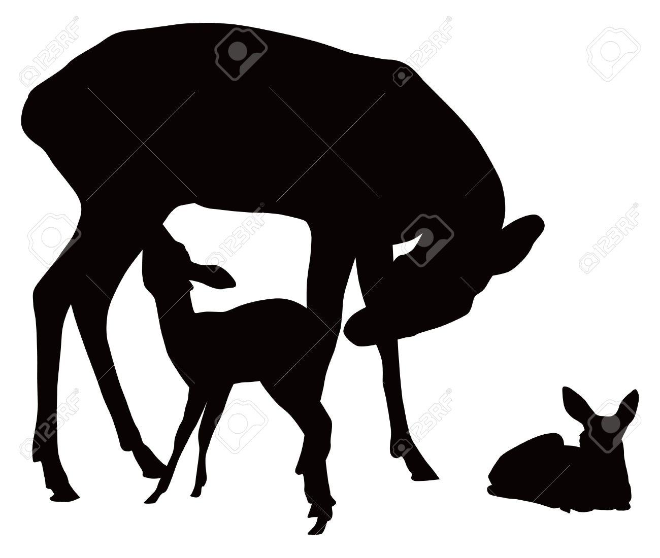 1300x1100 Deer Clipart Deer Family