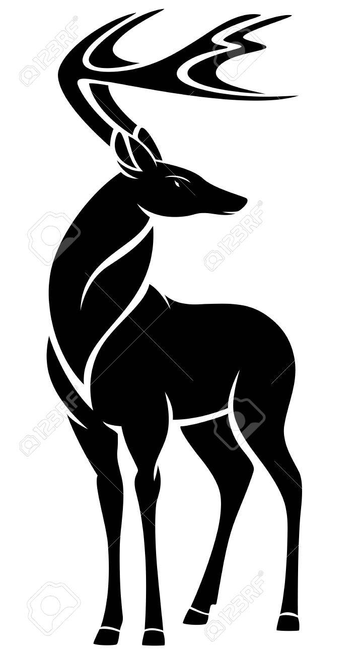 715x1300 Graceful Standing Deer Design