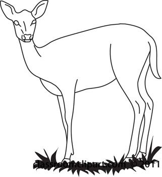321x350 Deer Clipart Black And White Archives