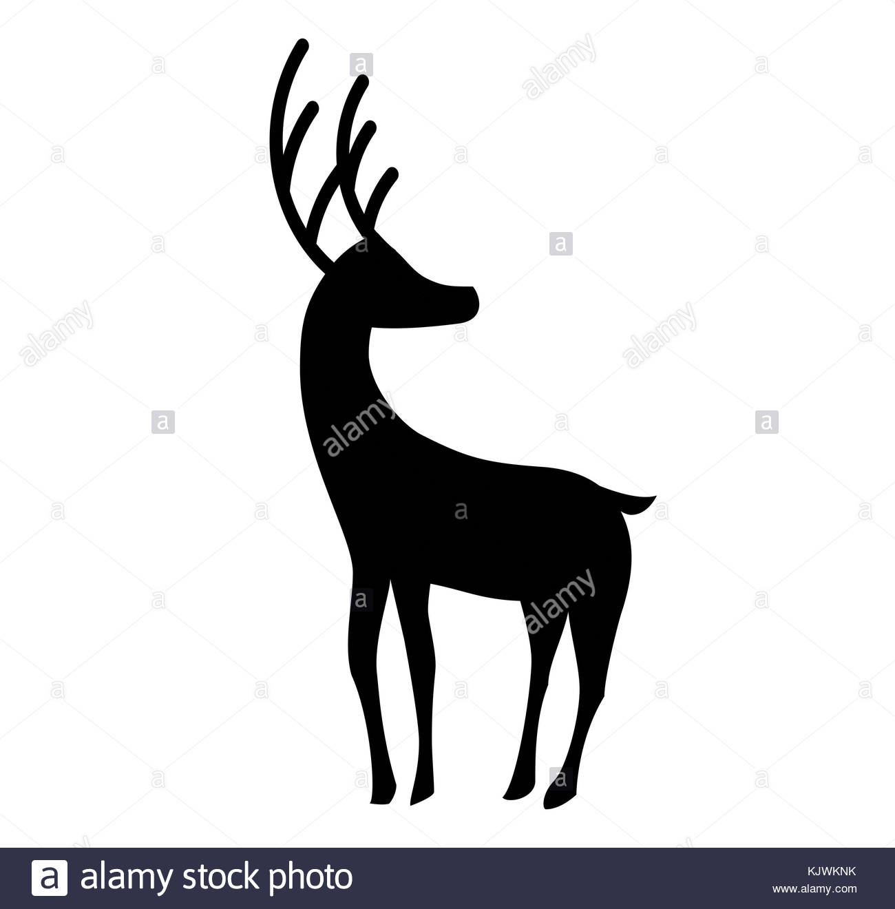 1300x1320 Black Silhouette Running Deer Vector Stock Photos Amp Black