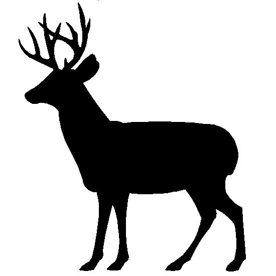 550x550 Deer Silhouette Art Silhouettes Of Wildlife Animals Bears