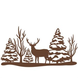 Deer Scene Cliparts