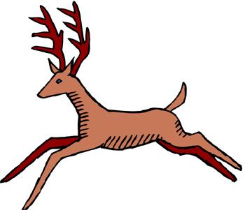 350x301 Deer Running Clipart