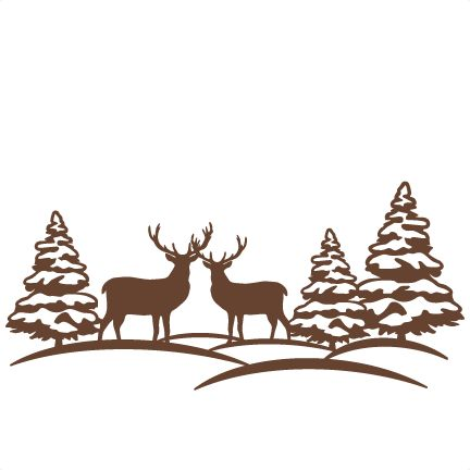 432x432 Wildlife Clipart Winter Scene