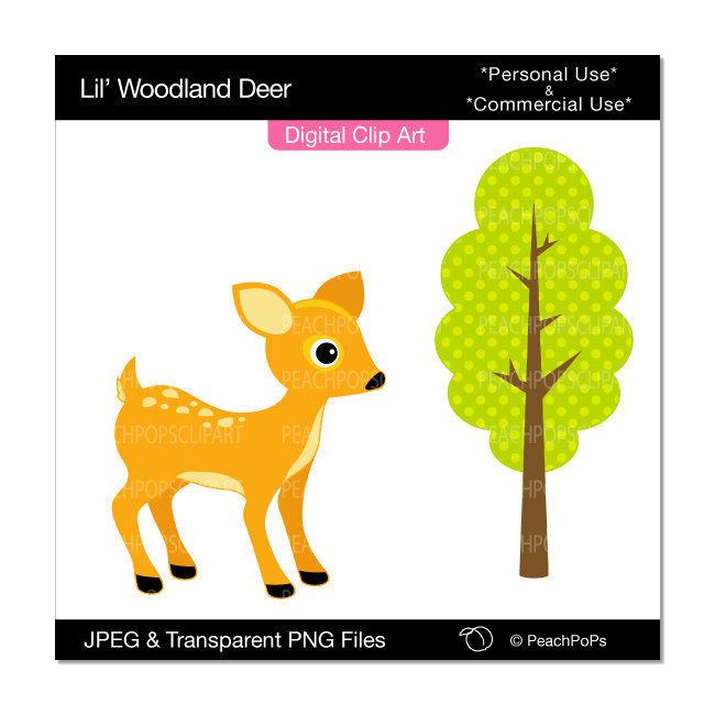 650x650 Woodland Baby Deer Clipart