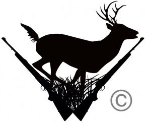 288x244 Deer Scene Clipart