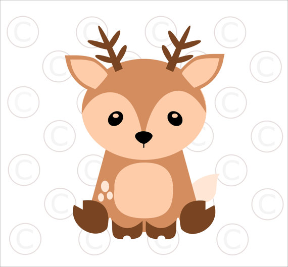 570x529 Baby Woodland Animal Svgs, Baby Deer Cut Files, Woodland Animal