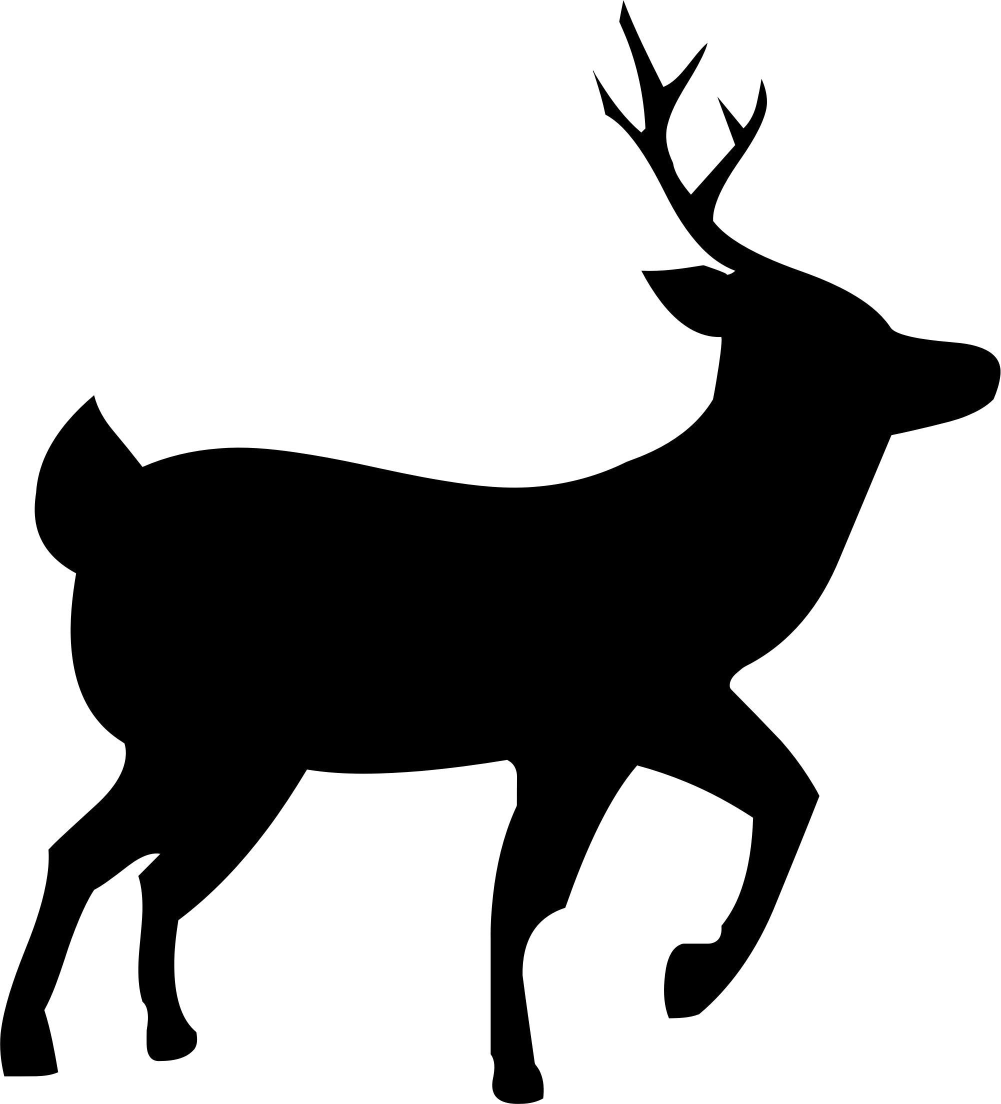 2002x2208 Deer Silhouette Clipart