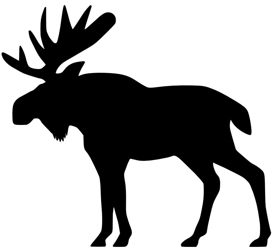 915x839 Moose Outline Clip Art