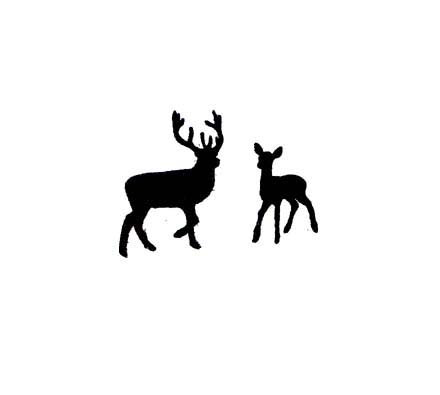 440x395 Stag Clipart Female Deer