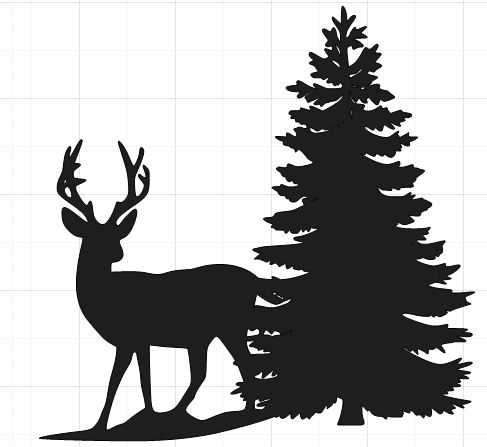 487x447 Deer Scene Silhouette Clip Art Clipart Collection On Wildlife