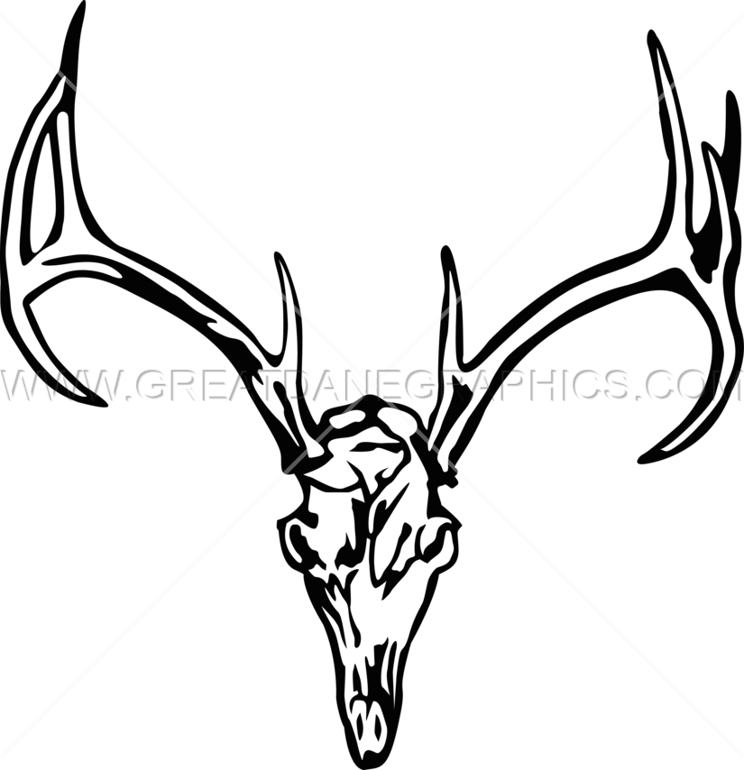 825x854 Deer Skull Charge Production Ready Artwork For T Shirt Printing