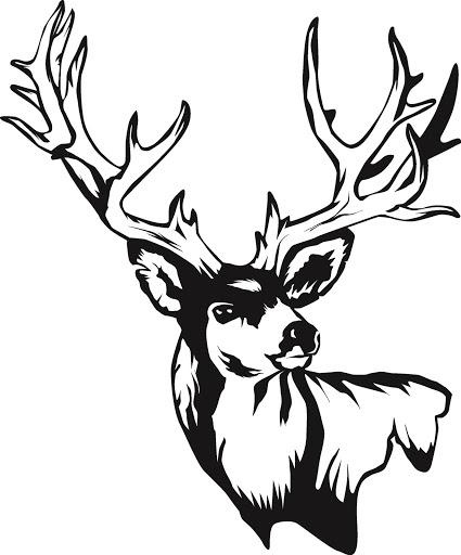 425x512 Deer Skull Clipart