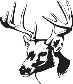 258x294 Tribal Deer Skull Clipart