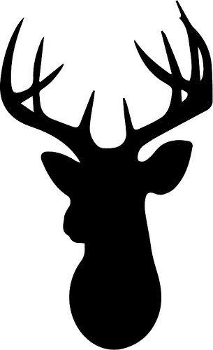 305x500 Deer Head Clipart