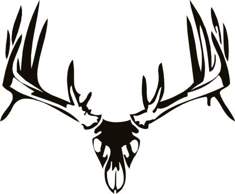 472x391 Tribal Whitetail Deer Deer Skull Wall Decal 2 Tattoo Board
