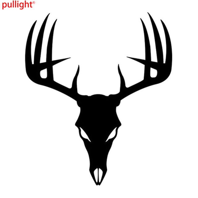 640x640 1518cm 3d Funny Car Styling Stickers Buck Deer Skull Car Stickers