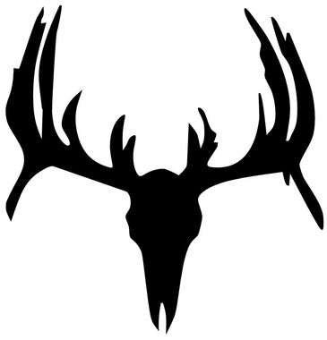 365x380 Deer Skull Decal Hnt1 40 Wildlife Vinyl Hunting Stickers
