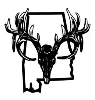 312x330 Alabama Deer Skull Decal Sticker