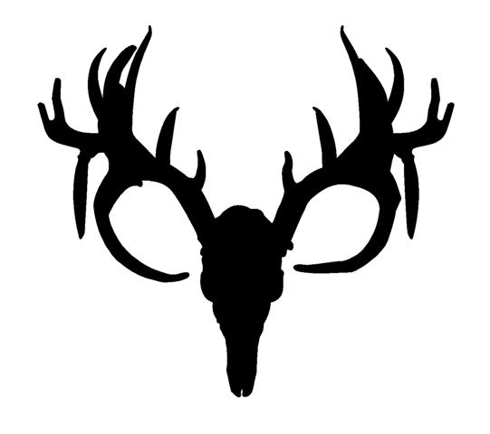 541x480 Deer Skull Silhouette Decal Sticker