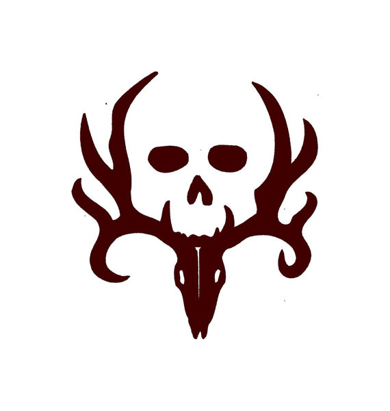 570x600 Graphics For Deer Skull Vinyl Graphics