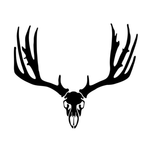 640x640 Mule Deer Skull Decal