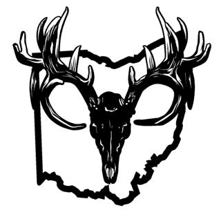 320x317 Ohio Deer Skull Decal Sticker