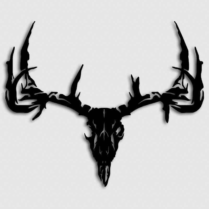 800x800 Whitetail Deer Skull Decal