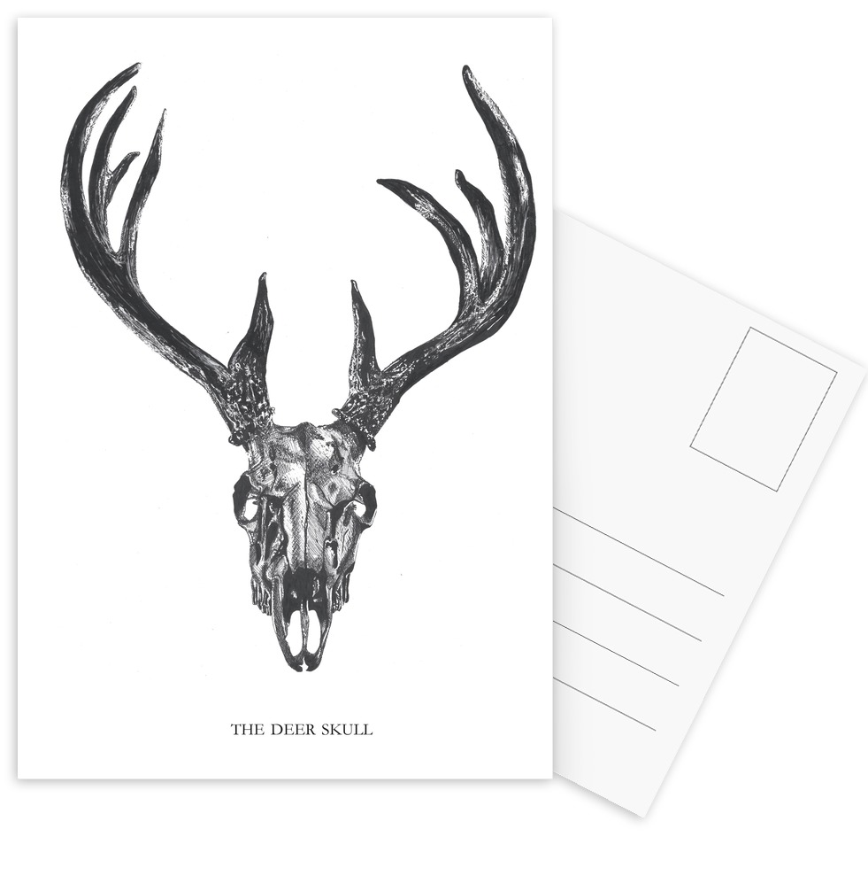 981x997 The Deer Skull As Poster In Standard Frame By Mathilde Olsen