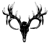 175x156 Deer Skull 3 Decal Sticker Clipart Panda