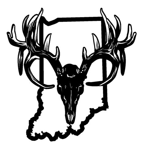 465x480 Indiana Deer Skull Decal Sticker