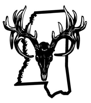 293x330 Mississippi Deer Skull Decal Sticker