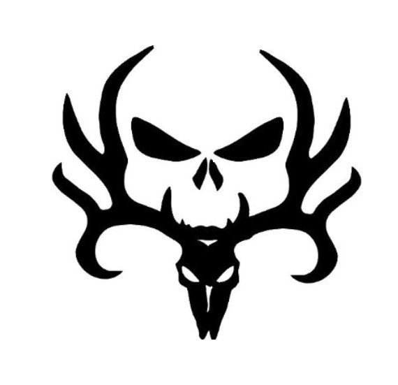 570x551 Skull And Deer Mixed, Browning, Punisher (Decal) Gallery 5150