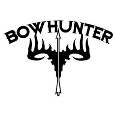 236x236 Bow Hunter 4x4 Vinyl Decal With Deer Skull And Arrow. By Amavinyl