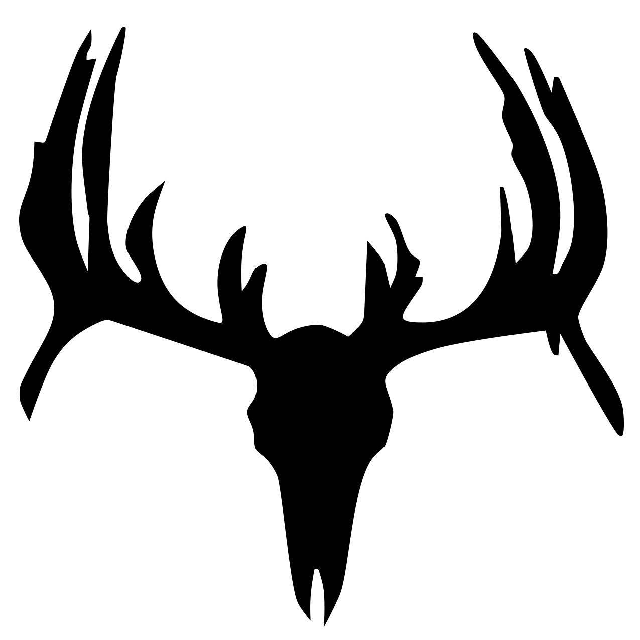 1275x1275 Dear Skull Deer Skull Image