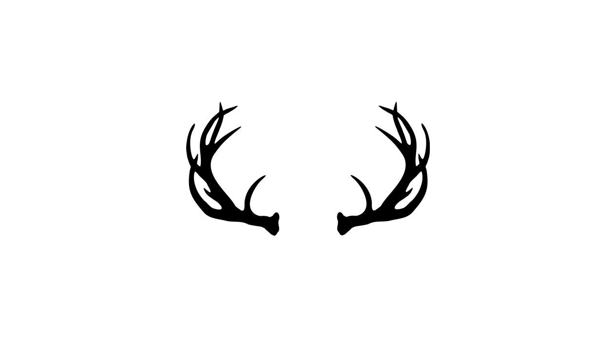 1264x694 Reindeer Horns Clipart
