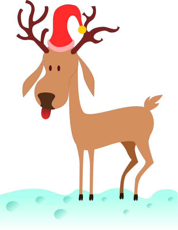 618x800 Christmas Deer Clipart