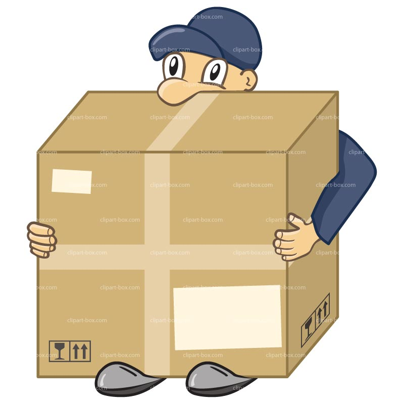800x800 Delivery Man Clipart