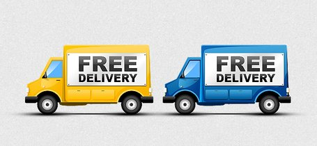 455x210 Free Delivery Truck Clip Art, Vector Free Delivery Truck