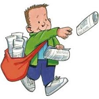 345x345 Newspaper Delivery Clipart