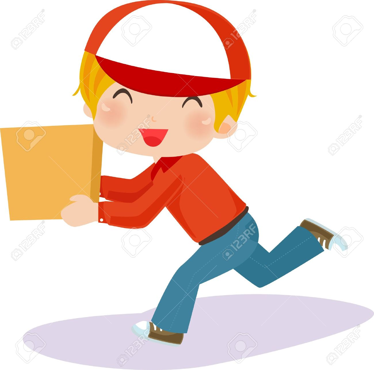1300x1285 Parcel Clipart Delivery Guy