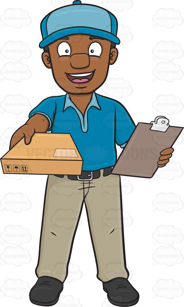 615x1024 Parcel Clipart Delivery Man