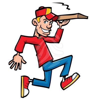 400x400 Pizza Delivery Man Clipart