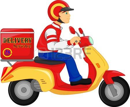 450x369 Scooter Clipart Delivery Scooter