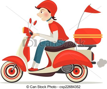 450x375 Scooter Clipart Home Delivery